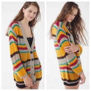 NWT UO Vibrant Striped Lightweight Cardigan